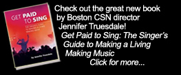 New book - GET PAID TO SING by Boston director Jennifer Truesdale!